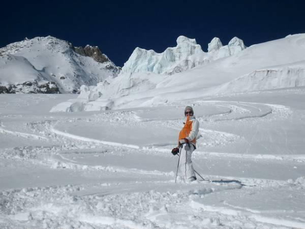 Glacier de Toule avec un guide